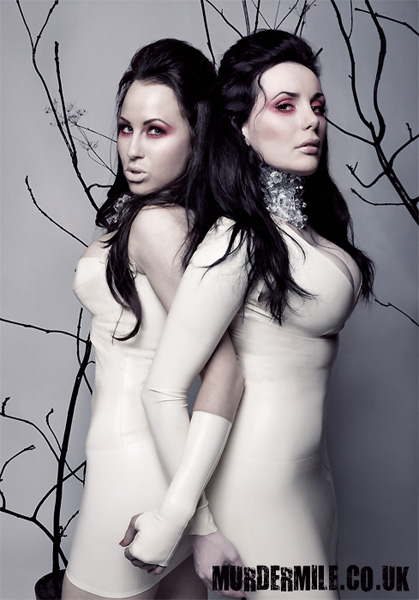 Kataxenna and Morrigan Hel in Jane Doe latex and Prong jewellery